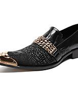 Masculino sapatos Pele Real Pele Napa Primavera Outono Conforto Inovador Sapatos formais Mocassins e Slip-Ons Tachas Para Casamento