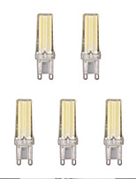 5pcs 4W G9 LED Bi-pin Lights 1 leds COB Warm White Cold White 1lm 3500/6500K AC 220-240V