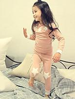 Girls' Sleepwear-Cotton-Fall Long Sleeve