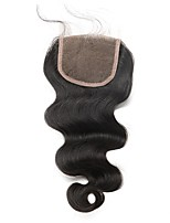 cheap -Body Wave 5x5 Lace Closure Bleached Knots Human Hair Closure Brazilian Hair Pre Plucked With Baby Hair Free/Middle/Three Part