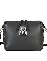 Women Bags All Seasons PU Shoulder Bag Zipper for Casual Black Gray