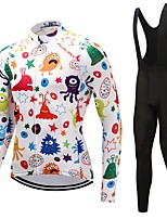 Cycling Jersey with Bib Tights Unisex Long Sleeves Bike Clothing Suits Windproof Cartoon Fashion Floral / Botanical Winter Cycling/Bike