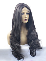 Women Synthetic Wig Lace Front Long Wavy Black Middle Part Sew in Cosplay Wig Costume Wig