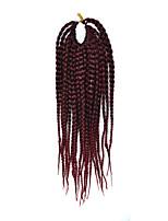 Dread Locks Hair Braid Afro Plaited Havana Twist Synthetic Hair Black/Dark Wine 14