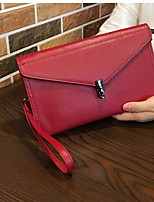Women Bags All Seasons Cowhide Clutch Zipper for Casual Black Red Military Green