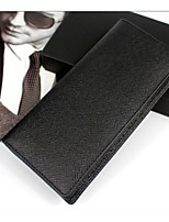 Men Bags Cowhide Wallet Zipper for Event/Party Formal All Seasons Black