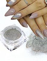 0.5g / bouteille de mode laser argent nail art glitter poudre ongles diy holographique chrome pigment glisten nail salon diy poussière