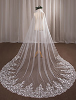 voiles de chapelle de voile de mariage à un niveau avec des accessoires de mariage de dentelle de tulle d'applique