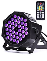 U'King ZQ-B193B-YK 36*1W LEDs Purple Color Auto DMX Sound Activated Par Stage Lighting with 1 Remote Control for Disco Party Club KTV Wedding