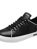 Для мужчин обувь Кожа Весна Осень Светодиодные подошвы Кеды Шнуровка Назначение Повседневные Белый Черный Синий