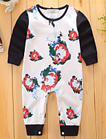 Baby Fashion Print One-PiecesCotton Spring/Fall Summer Long Sleeve