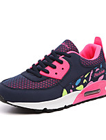 Women's Shoes PU Fall Winter Comfort Sneakers For Casual Outdoor Blushing Pink Gray Dark Blue