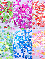Colorful Sequins Shell Colorful Nail Art Decoration 6pcs/set