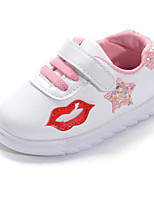 Girls' Shoes PU Spring Fall Comfort Sneakers For Casual Blushing Pink Green Black