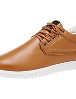 Da uomo Scarpe Di pelle Primavera Autunno Suole leggere Sneakers Lacci Per Casual Bianco Nero Blu Cachi