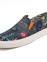 Men's Shoes Denim Spring Fall Comfort Loafers & Slip-Ons For Casual Gray Dark Blue