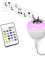 1pc Smart RGB Wireless Bluetooth Speaker Bulb Music Playing Dimmable 12W E27 24 Keys Remote Control AC85-265V