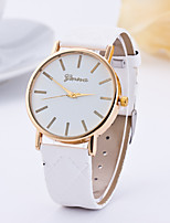 Women's Fashion Watch Quartz Leather Band Minimalist Casual Black White Red Brown Green