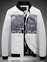 Men's Padded CoatSimple Casual/Daily Print-Others Cotton Long Sleeves