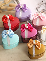 Heart-shaped Iron(nickel plated) Favor Holder With Bow Favor Boxes