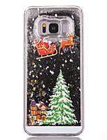 Недорогие -Кейс для Назначение SSamsung Galaxy S8 Plus / S8 Движущаяся жидкость / С узором Кейс на заднюю панель Рождество Твердый ПК для S7 edge / S7 / S6 edge
