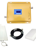 LCD Display Mobile Phone 800mhz 850mhz 1800mhz Signal Booster CDMA DCS Signal Repeater Amplifier with Panel Antenna / Log Periodic Antenna / Golden