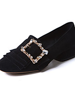 Women's Shoes Sheepskin Spring Fall Comfort Heels For Casual Dress Light Pink Black