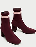 Femme Chaussures Tissu Hiver Bottes à la Mode Bottes Bottine/Demi Botte Pour Décontracté Rouge