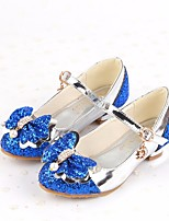 Girls' Shoes PU Summer Comfort Heels For Casual Blushing Pink Blue Silver Gold
