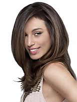 Women Synthetic Wig Capless Long Natural Wave Brown Side Part Natural Wigs Costume Wig