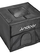 andoer 40 * 35 * 35 cm studio de photographie pliable conduit boîte à lumière kit lumière softbox avec 2 panneaux de lumière 3 couleurs