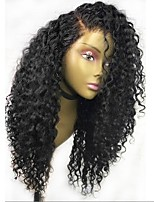 Women Human Hair Lace Wig Burmese Human Hair Glueless Lace Front 150% Density With Baby Hair Curly Wig Black Long Natural Hairline