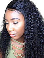 Women Human Hair Lace Wig Peruvian Human Hair 360 Frontal 180% Density With Baby Hair Deep Wave Wig Black Medium Length