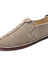 Для мужчин обувь Искусственное волокно Весна Осень Удобная обувь Мокасины и Свитер Назначение Повседневные Черный Серый Хаки