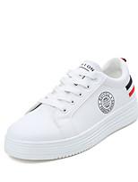 Da donna Scarpe PU (Poliuretano) Primavera Estate Comoda Sneakers Piatto Punta tonda Più materiali Per Casual Bianco