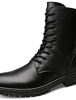 Women's Shoes Real Leather Fall Winter Fashion Boots Bootie Combat Boots Boots Booties/Ankle Boots For Casual Outdoor Black