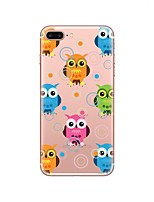 cheap -Case For Apple iPhone X iPhone 8 Transparent Pattern Back Cover Owl Soft TPU for iPhone X iPhone 8 Plus iPhone 8 iPhone 7 Plus iPhone 7