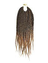 1pc / pack Trecce di capelli intrecciato Afro Havana Twist 35cm Capelli sintetici Nero / Medium Auburn Capelli intrecciati Extensions per
