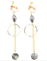 Women's Hoop Earrings Fashion Elegant Pearl Gold Plated Jewelry For Wedding Office & Career