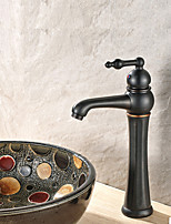 Contemporary Vessel Widespread with  Ceramic Valve Oil Rubbed Bronze , Bathroom Sink Faucet