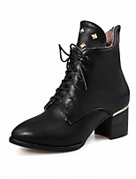 cheap -Women's Shoes Leatherette Spring Winter Fashion Boots Bootie Boots Round Toe Booties/Ankle Boots Rivet For Casual Dress Burgundy Gray