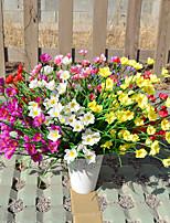 1 Ramo Plástico Orquideas Flor de Mesa Flores artificiais