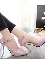Women's Shoes Nubuck leather PU Spring Fall Basic Pump Heels Stiletto Heel For Casual Blushing Pink Silver Gold