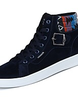 Men's Shoes Rubber Fall Comfort Sneakers Lace-up For Outdoor Blue Yellow Black