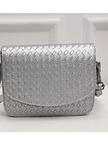 Women Bags PU Shoulder Bag Zipper for Casual All Seasons Gold Black Silver
