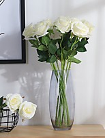 2 Branch Polyester Roses Tabletop Flower Artificial Flowers