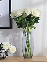 2 Филиал Полиэстер Розы Букеты на стол Искусственные Цветы