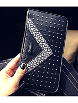 Women Bags PU Wallet Zipper for Event/Party Formal All Seasons Gold Silver