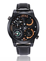 Men's Sport Watch Wrist watch Unique Creative Watch Chinese Quartz Silicone Band Black Brown