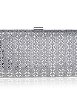 Women Bags All Seasons Polyester Evening Bag Beading Pearl Detailing for Event/Party Silver